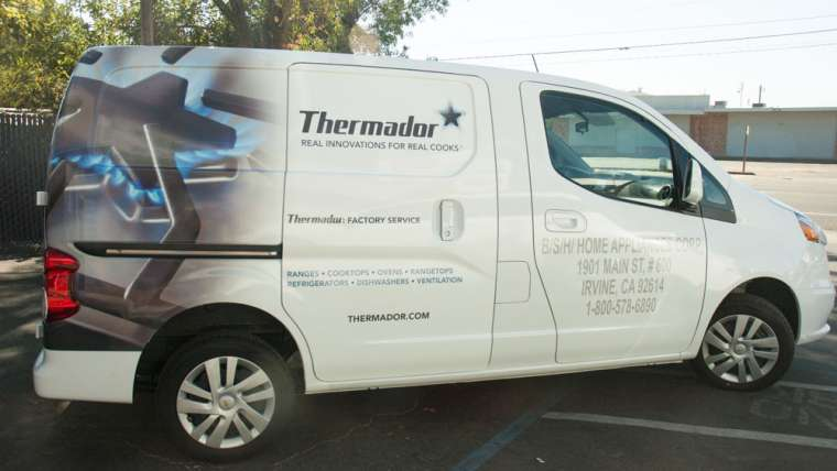 B/S/H Home Appliance Van Wrap